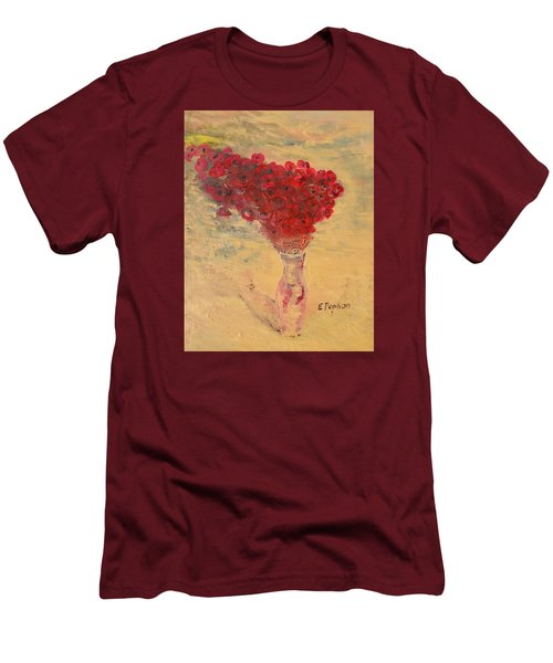 Lest We Forget Men's T-Shirt (Slim Fit) by Evelina Popilian