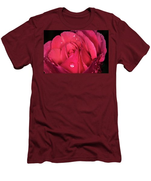 Pink Rose Men's T-Shirt (Athletic Fit)