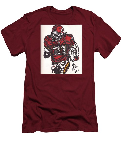 Men's T-Shirt (Slim Fit) featuring the drawing Priest Holmes 2 by Jeremiah Colley