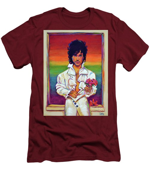 Rainbow Child Men's T-Shirt (Slim Fit) by Robert Phelps