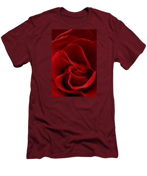 Red Rose Vi Men's T-Shirt (Slim Fit) by George Robinson