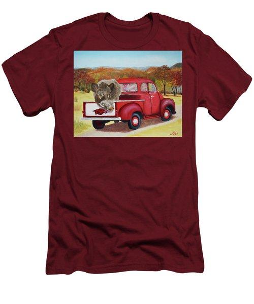 Ridin' With Razorbacks 2 Men's T-Shirt (Slim Fit) by Belinda Nagy