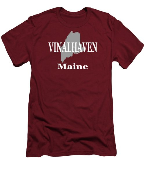 Men's T-Shirt (Slim Fit) featuring the photograph Southwest Harbor Maine State City And Town Pride  by Keith Webber Jr