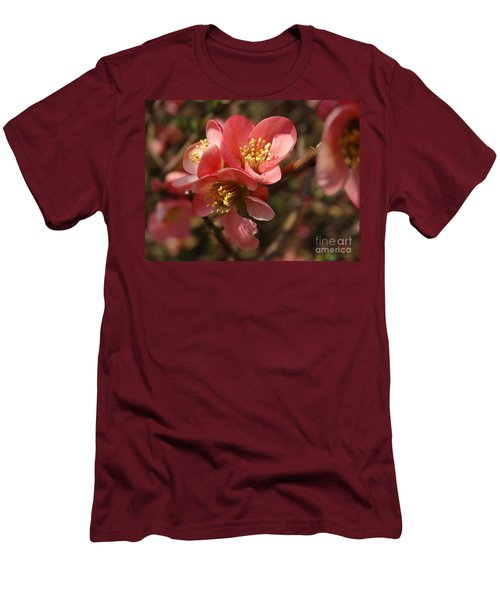 Spring Blooms Men's T-Shirt (Slim Fit) by Rebecca Overton
