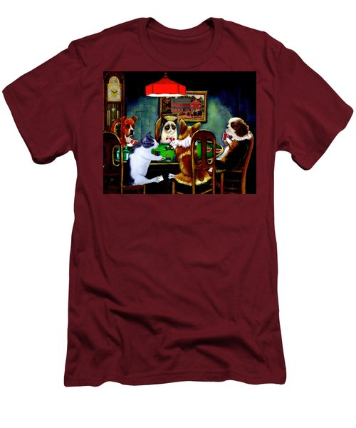 Under The Table Men's T-Shirt (Slim Fit) by Ron Chambers