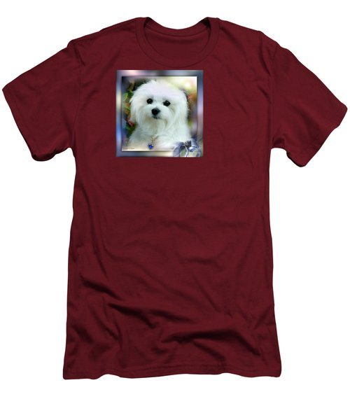 Hermes The Maltese Men's T-Shirt (Slim Fit) by Morag Bates