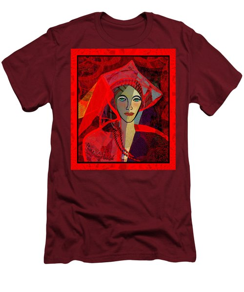 1791 - Lady In Red 2017 Men's T-Shirt (Slim Fit) by Irmgard Schoendorf Welch