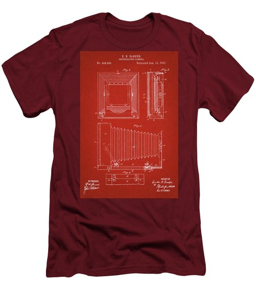 1891 Camera Us Patent Invention Drawing - Red Men's T-Shirt (Athletic Fit)