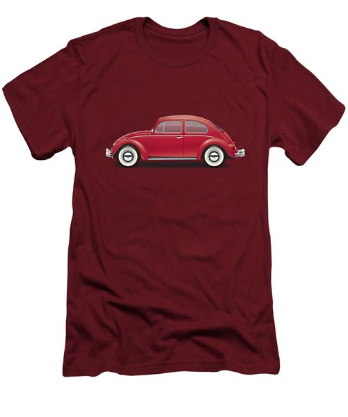 1964 Volkswagen 1200 Deluxe Sedan - Ruby Red Men's T-Shirt (Athletic Fit)