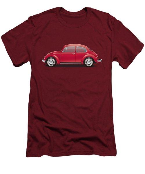 1968 Volkswagen Sedan - Royal Red Men's T-Shirt (Slim Fit) by Ed Jackson