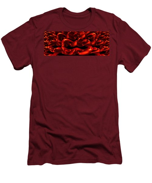 Men's T-Shirt (Slim Fit) featuring the digital art Red by Lyle Hatch
