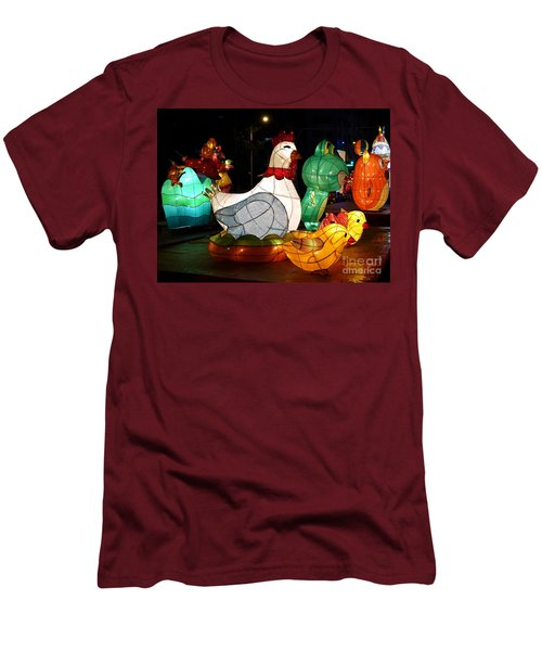 The 2017 Lantern Festival In Taiwan Men's T-Shirt (Slim Fit)
