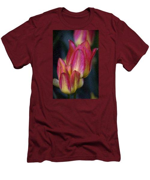 Tulips Men's T-Shirt (Slim Fit) by Andre Faubert