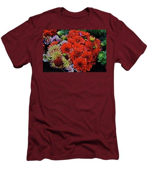 2017 Mid October Monona Farmers' Market Buckets Of Blossoms 1 Men's T-Shirt (Athletic Fit)