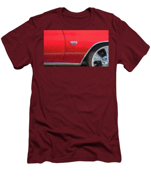 Men's T-Shirt (Slim Fit) featuring the photograph 1970 Chevy Chevelle 454 Ss  by Rich Franco