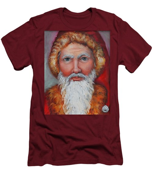 3d Santa Men's T-Shirt (Athletic Fit)