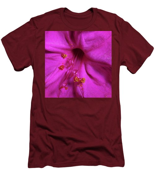 Men's T-Shirt (Slim Fit) featuring the photograph 4 O'clock Bloom by Richard Rizzo