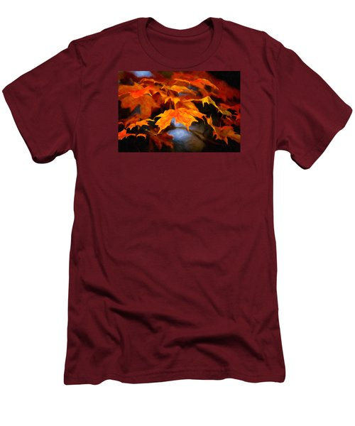 Maple Leaves Men's T-Shirt (Slim Fit) by Andre Faubert