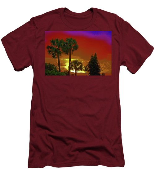 Men's T-Shirt (Slim Fit) featuring the digital art 7- Holiday by Joseph Keane
