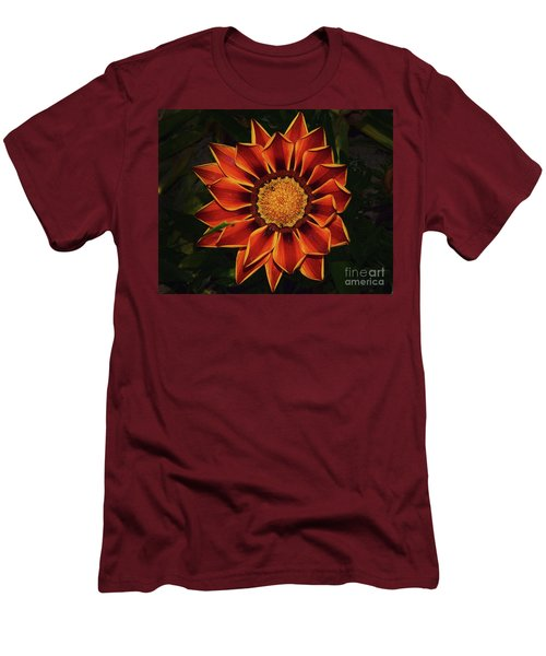 Men's T-Shirt (Slim Fit) featuring the photograph Beautiful Gazania by Elvira Ladocki
