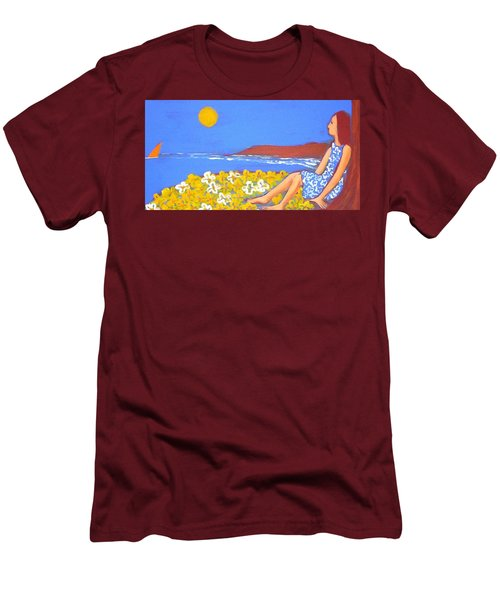 A Quiet Place Men's T-Shirt (Slim Fit) by Winsome Gunning