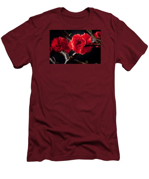 A Red Flower Men's T-Shirt (Slim Fit) by Catherine Lau