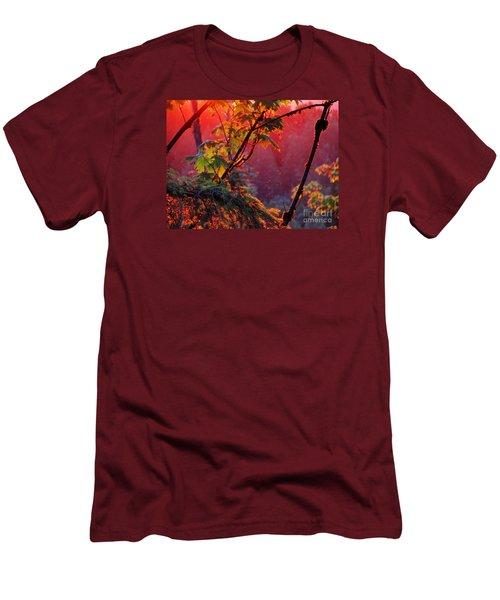 A Season's  Sunset Dusting Men's T-Shirt (Slim Fit) by Natalie Ortiz