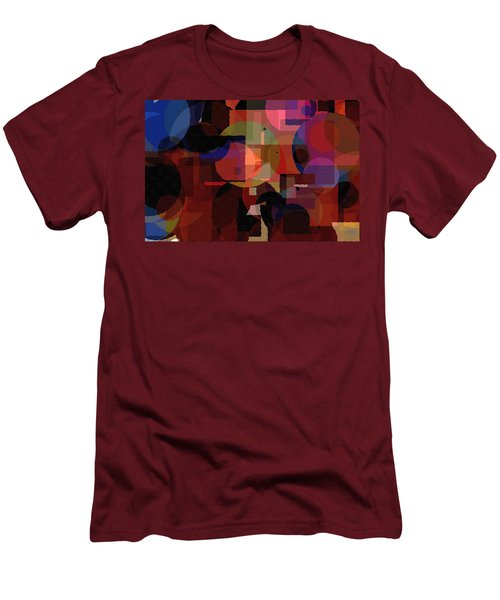 Abstract 33017-2 Men's T-Shirt (Slim Fit) by Maciek Froncisz