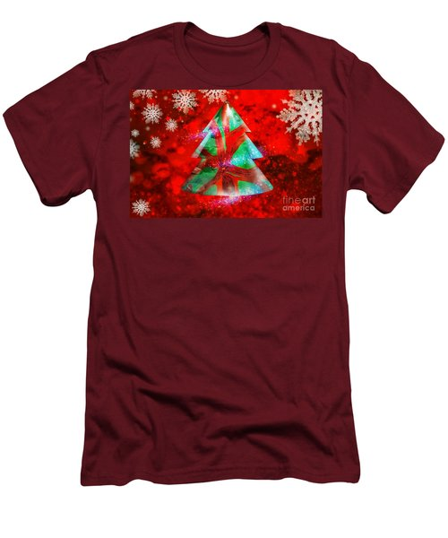 Abstract Christmas Bright Men's T-Shirt (Athletic Fit)
