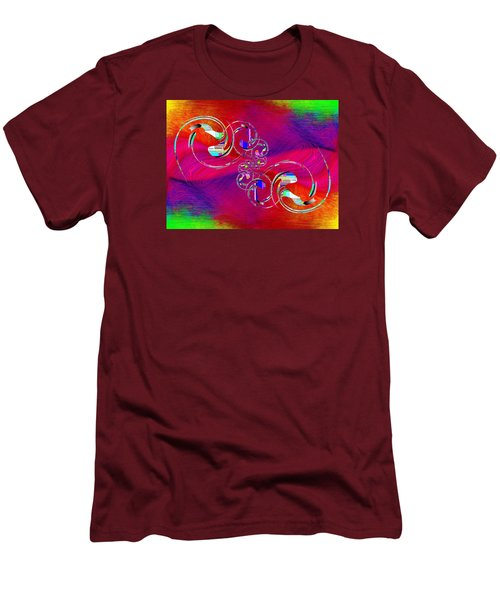 Men's T-Shirt (Slim Fit) featuring the digital art Abstract Cubed 360 by Tim Allen