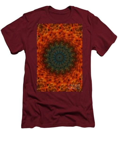 Abstract Fractal  Men's T-Shirt (Slim Fit) by Donna Greene