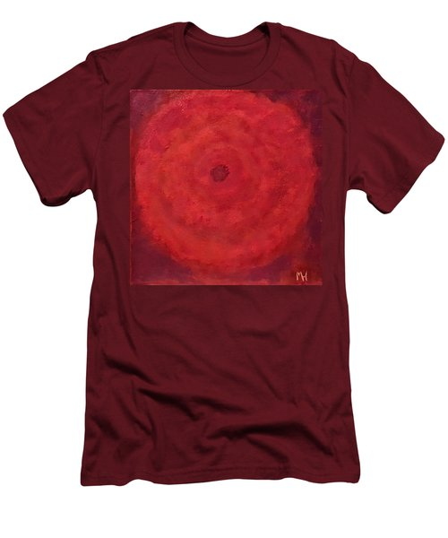 Men's T-Shirt (Slim Fit) featuring the painting Abstract Rose by Margaret Harmon