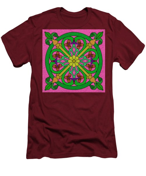 Acorns On Pink Men's T-Shirt (Slim Fit) by Curtis Koontz