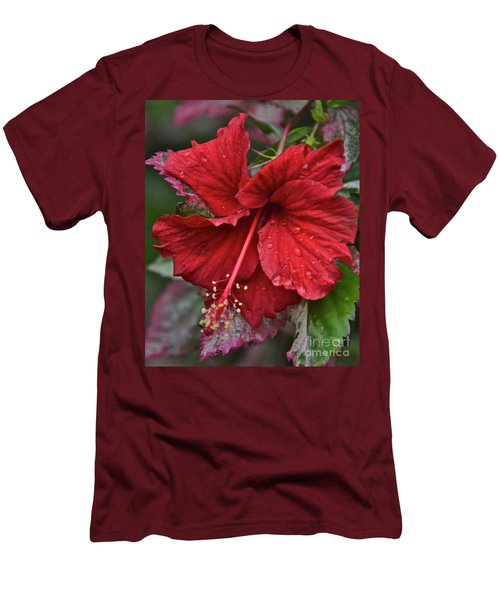 Men's T-Shirt (Slim Fit) featuring the photograph After The Rain by Carol  Bradley