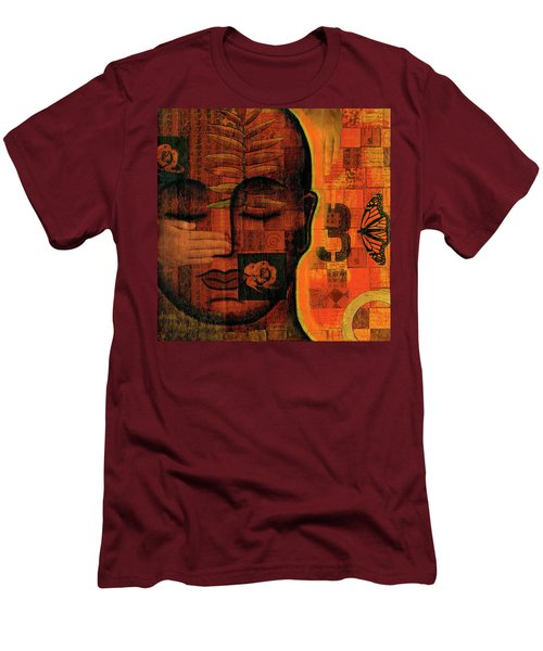 Men's T-Shirt (Slim Fit) featuring the painting All Seeing by Gloria Rothrock