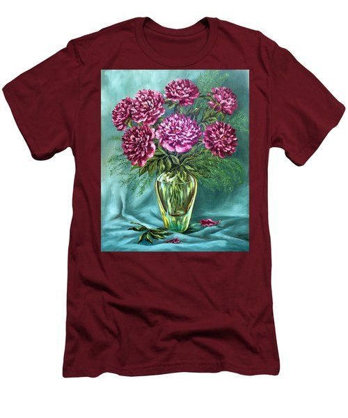 Men's T-Shirt (Slim Fit) featuring the painting All Things Beautiful by Karen Showell