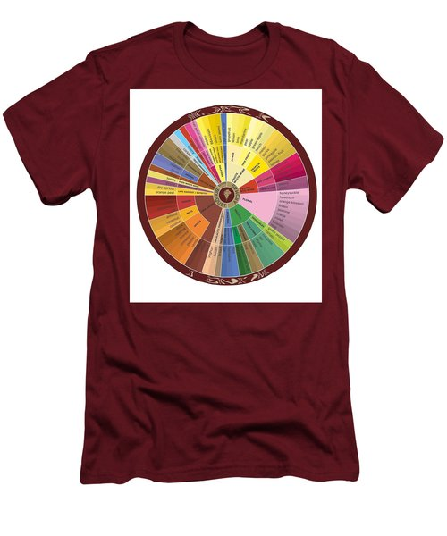 American Wine Chart Men's T-Shirt (Athletic Fit)