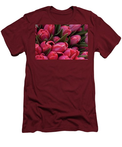 Amsterdam Red Tulips Men's T-Shirt (Athletic Fit)