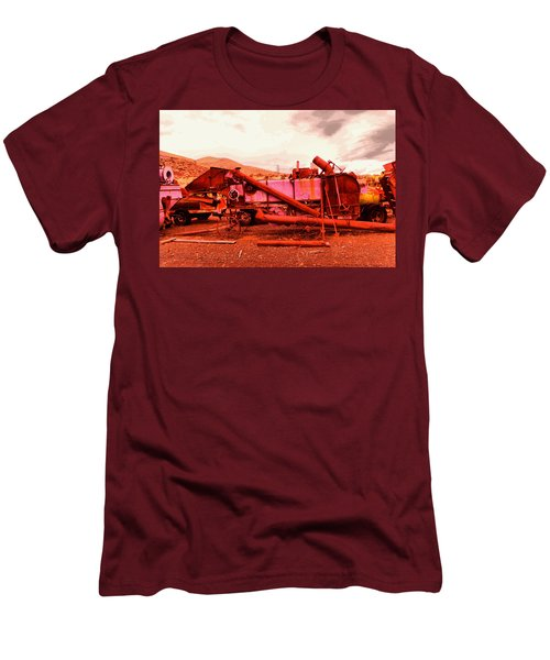 Men's T-Shirt (Slim Fit) featuring the photograph An Old Rusty Harvestor by Jeff Swan