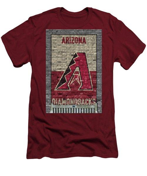 Arizona Diamondbacks Brick Wall Men's T-Shirt (Slim Fit) by Joe Hamilton