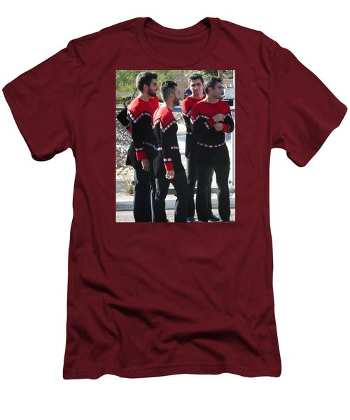 Armenian Dancers 12 Men's T-Shirt (Athletic Fit)