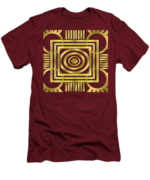 Men's T-Shirt (Slim Fit) featuring the digital art Art Deco 20 by Chuck Staley