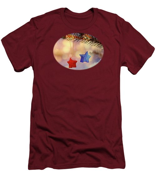 Snowstars Men's T-Shirt (Slim Fit) by AugenWerk Susann Serfezi