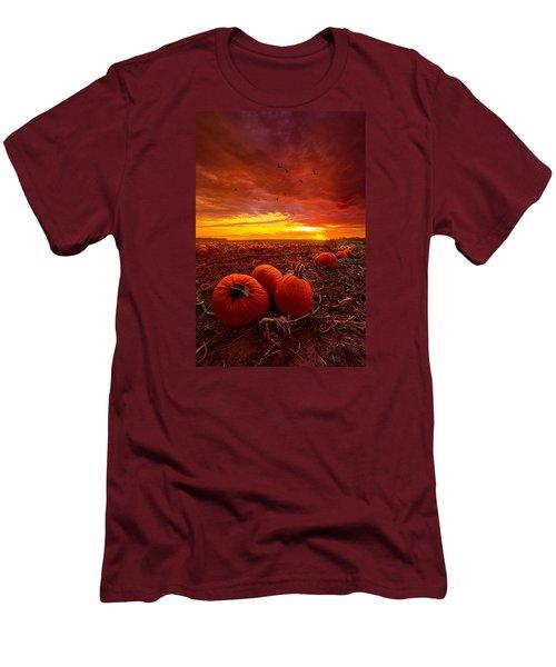Autumn Falls Men's T-Shirt (Slim Fit) by Phil Koch