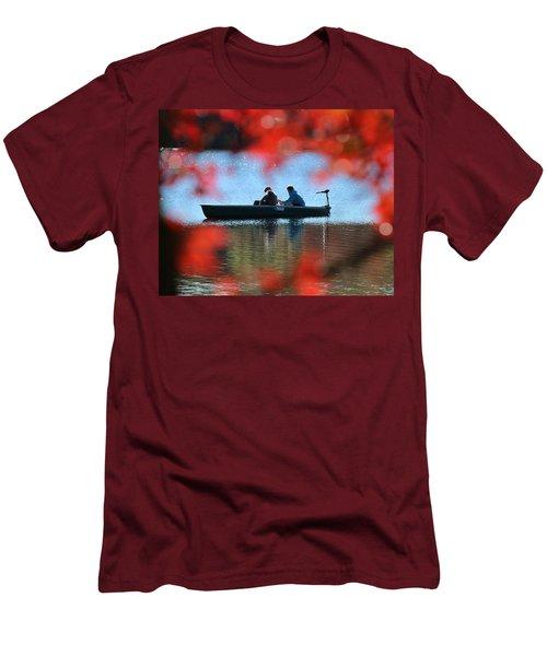 Autumn Fishing Smithtown New York Men's T-Shirt (Slim Fit) by Bob Savage