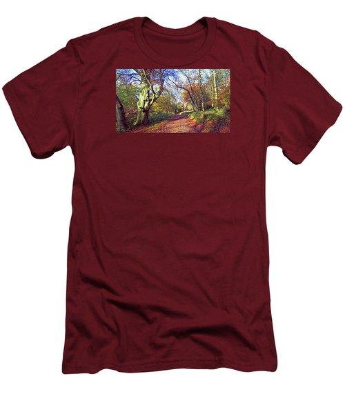 Autumn In Ashridge Men's T-Shirt (Slim Fit) by Anne Kotan