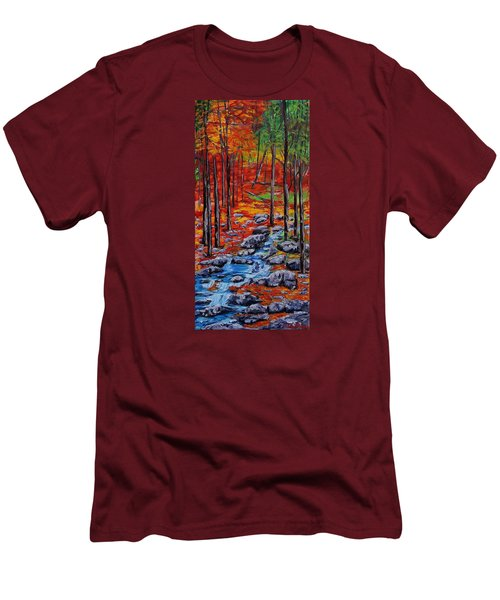 Autumn In The Air 2 Men's T-Shirt (Slim Fit) by Mike Caitham