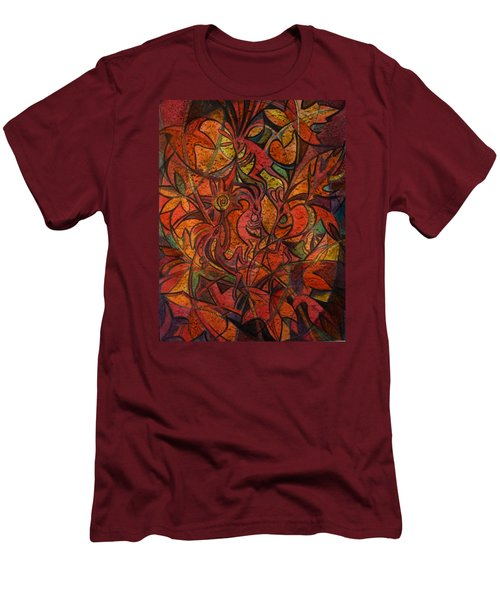 Autumn Kokopelli Men's T-Shirt (Athletic Fit)
