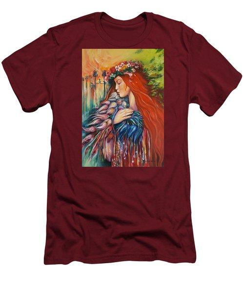 Autumn Men's T-Shirt (Slim Fit) by Rita Fetisov