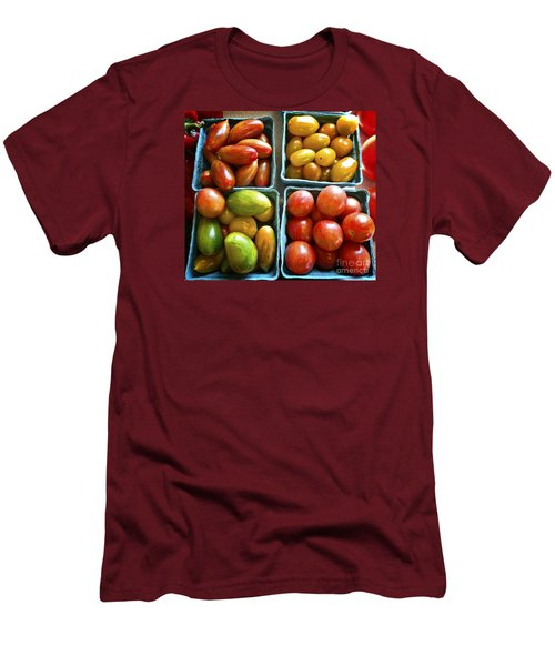 Baby Tomato Medley Men's T-Shirt (Slim Fit) by Dee Flouton